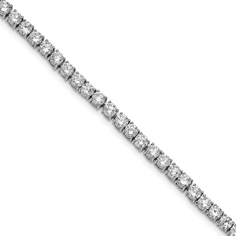 Cheryl M Cheryl M Sterling Silver Polished Fancy CZ Bracelet