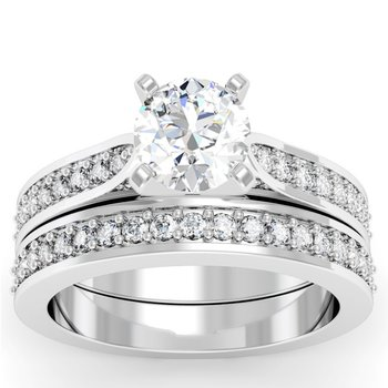 Cathedral Pave Diamond Band