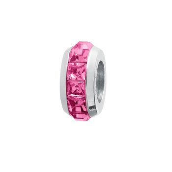 316L stainless steel and fuchsia Swarovski® Elements crystals
