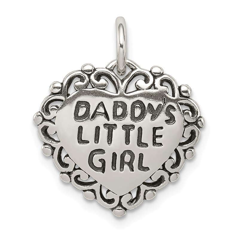 White Gold Quality Gold Girl with Bow Charm