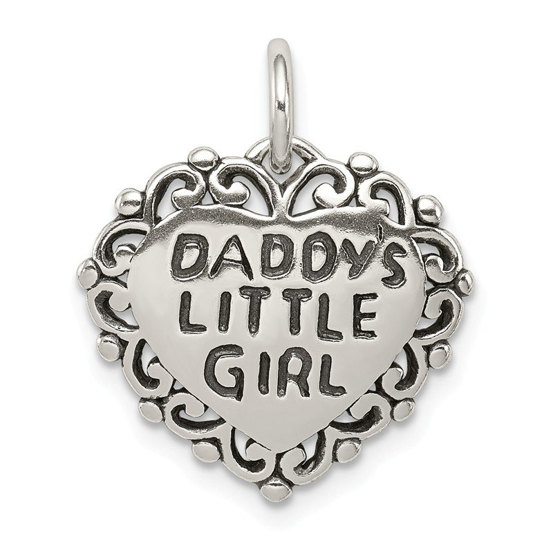 Quality Gold Sterling Silver Antiqued Daddy's Little Girl