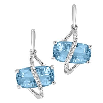 Aqua Blue Spinel Earrings-CE4268WAQ