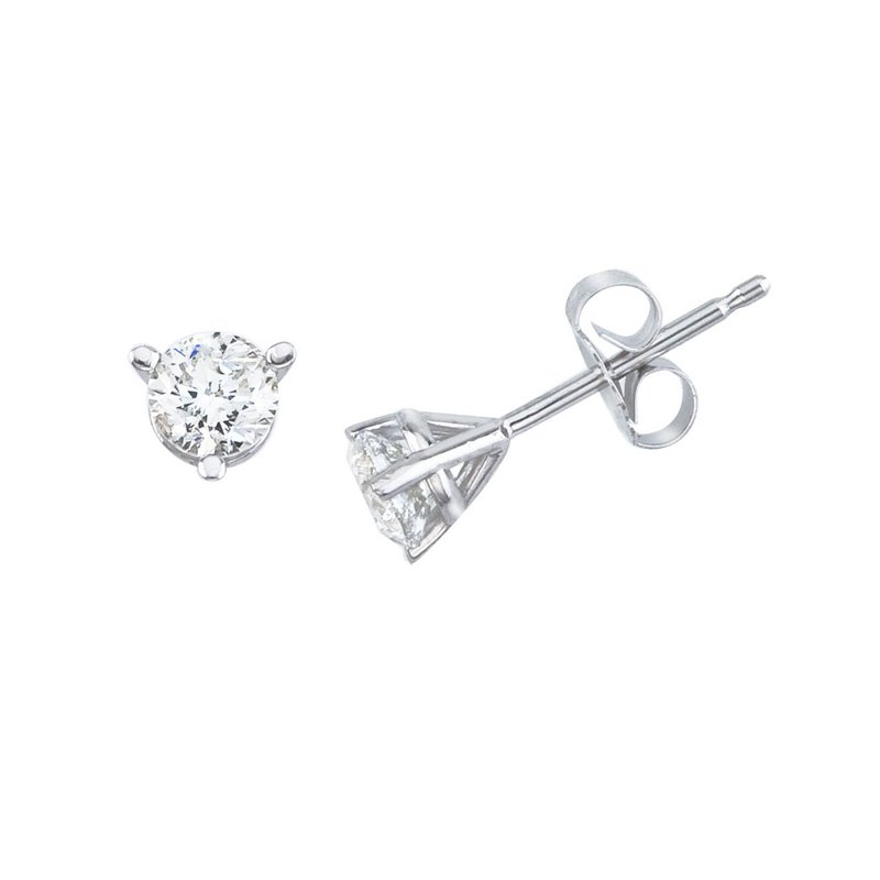 Color Merchants 14K White Gold .40 Ct Diamond Martini Setting Stud Earrings