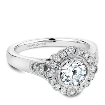 Noam Carver Floral Engagement Ring B091-01A