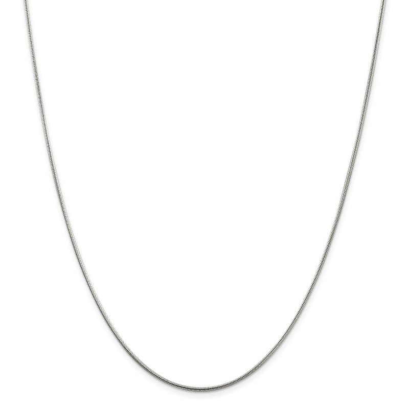 Quality Gold Sterling Silver 1.5mm Diamond-cut Snake Chain