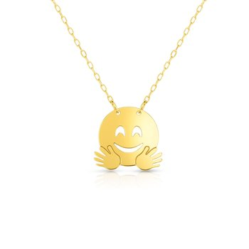 14K Gold Hugs Roymoji Necklace
