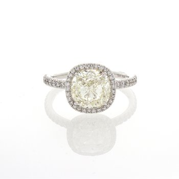 CUSHION CUT DIAMOND 2.51 CT