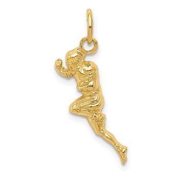 14k Football Player Charm