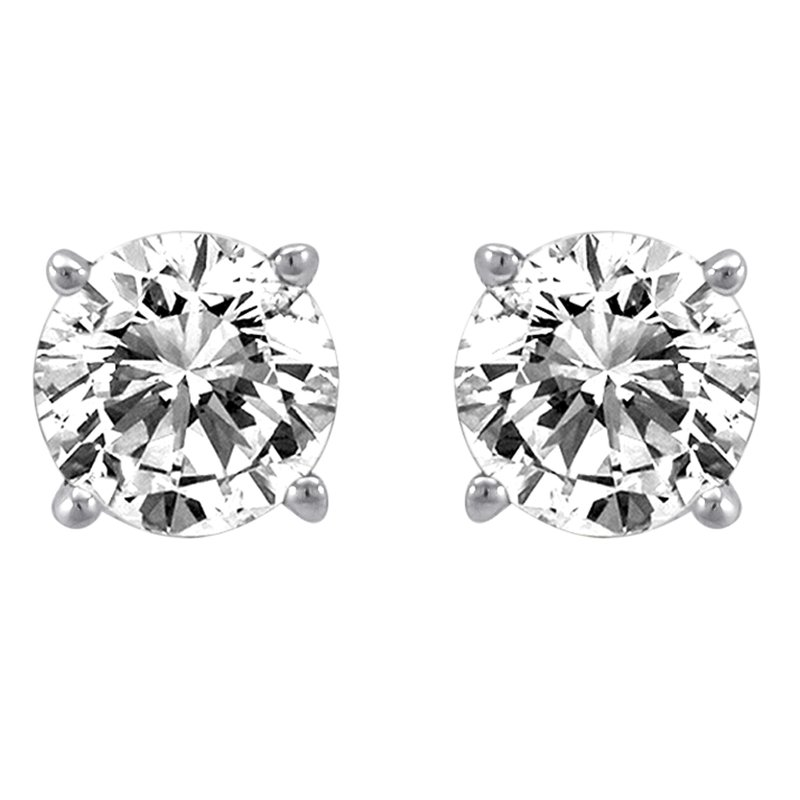 Simply Diamonds 14KW 1/15CTW ROUND DIAMOND STUD