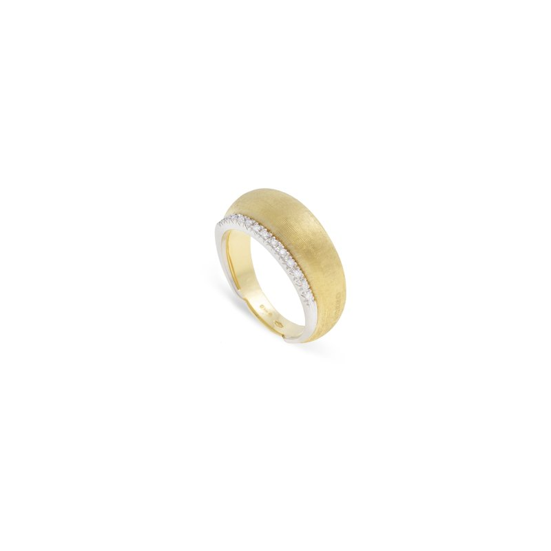 Marco Bicego Marco Bicego® Lucia Collection 18K Yellow Gold and Diamond Dome Ring
