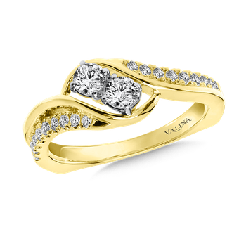 Two-Stone Diamond Engagement Ring Moutning in 14K Yellow Gold (.46 ct. tw.)
