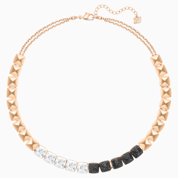 Glance Necklace, Multi-colored, Rose-gold tone plated