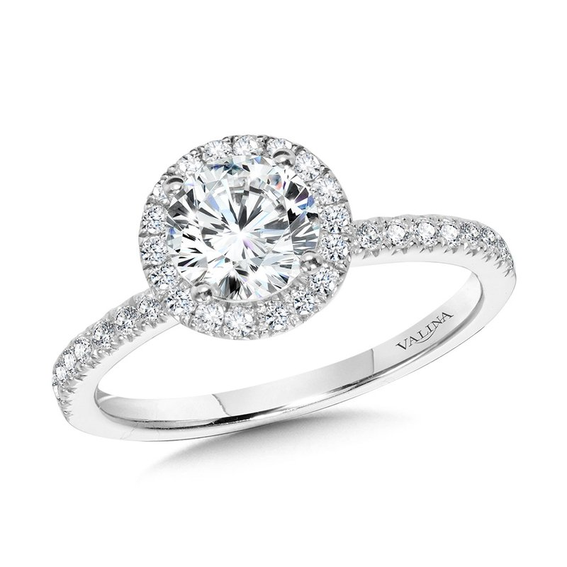 Valina Classic Straight Halo Engagement Ring