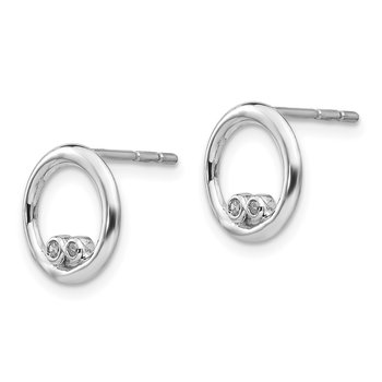 SS White Ice .03ct. Diamond Earrings