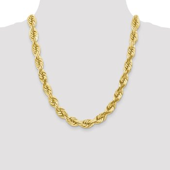 10k 10mm Diamond-cut Rope Chain