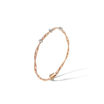 Marrakech Rose Gold & Diamond Stackable Bangle