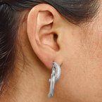 Leslie's Leslie's Sterling Silver Polished D/C Removable Front Back Earrings