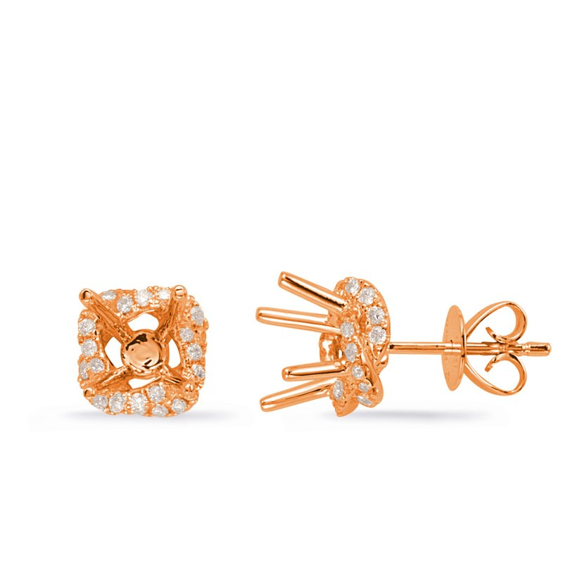 S. Kashi  & Sons Rose Gold Diamond Earring for 1cttw