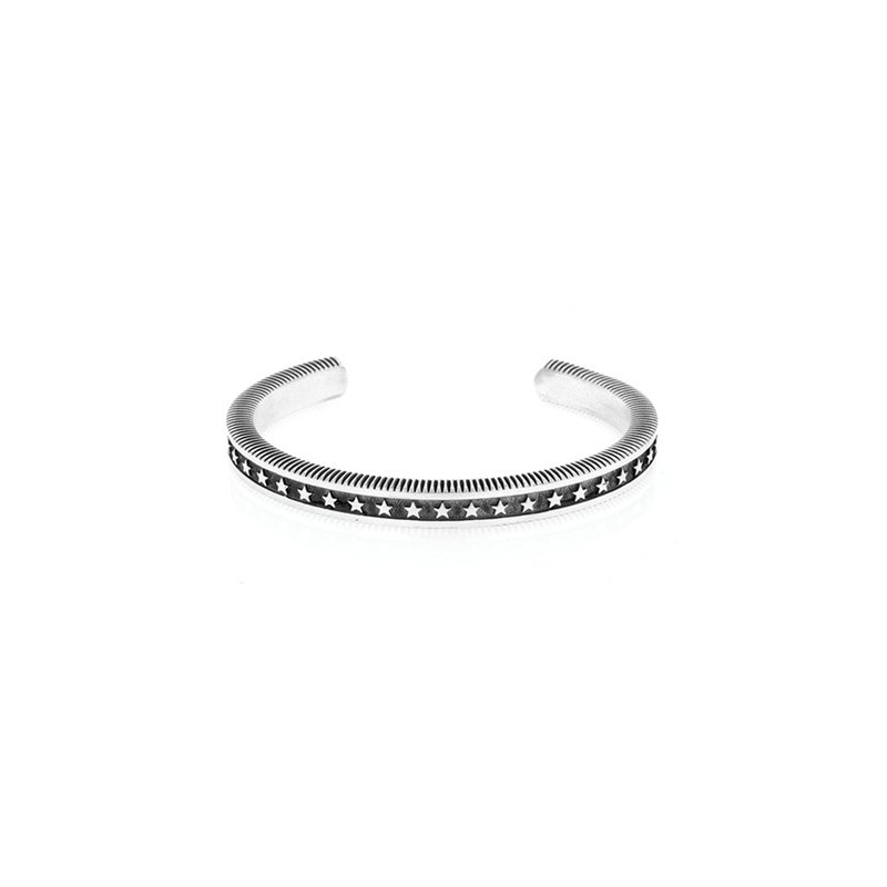 King Baby Coin Edge Cuff With Stars