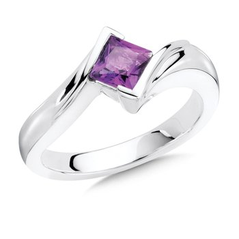 Sterling Silver Amethyst Essentials Ring