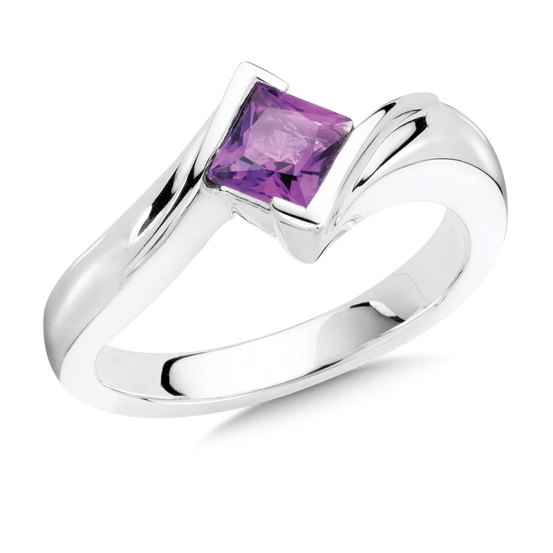 Colore Sg Sterling Silver Amethyst Essentials Ring