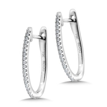 Petite Pave Diamond Horseshoe Hoop Earrings