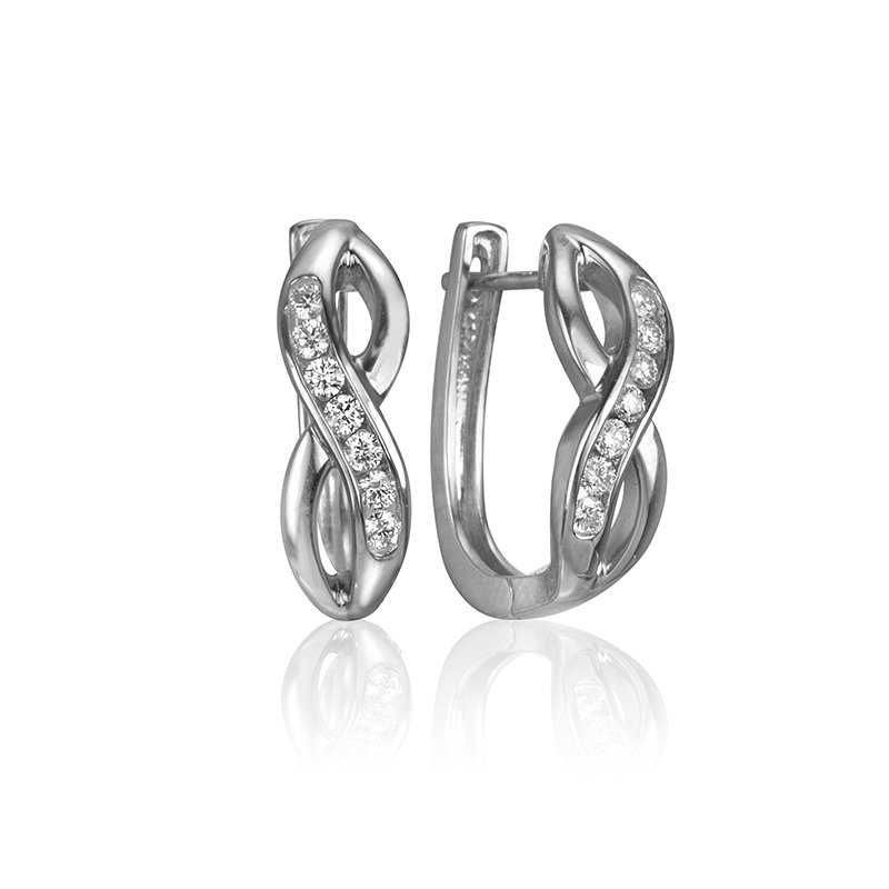 Max Strauss Diamond Infinity Earrings
