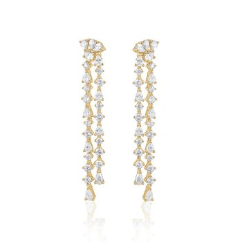Sparkling Gold Plated Earrings