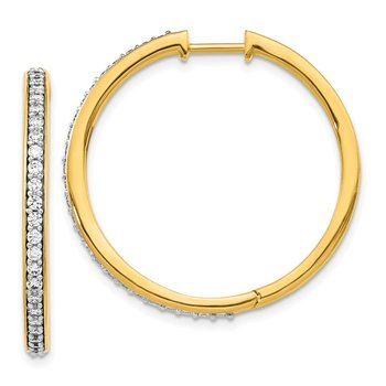 Fancy Diamond Hoops