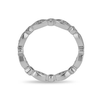 18K WG and diamond Eternity band in pre pave and bezel setting