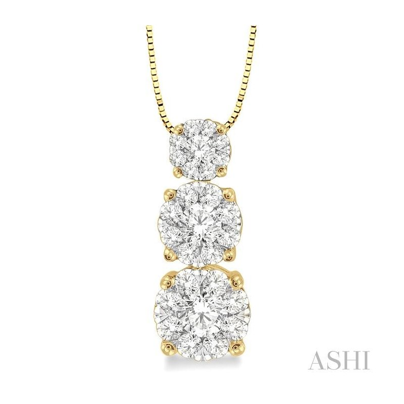 ASHI past present & future lovebright diamond pendant