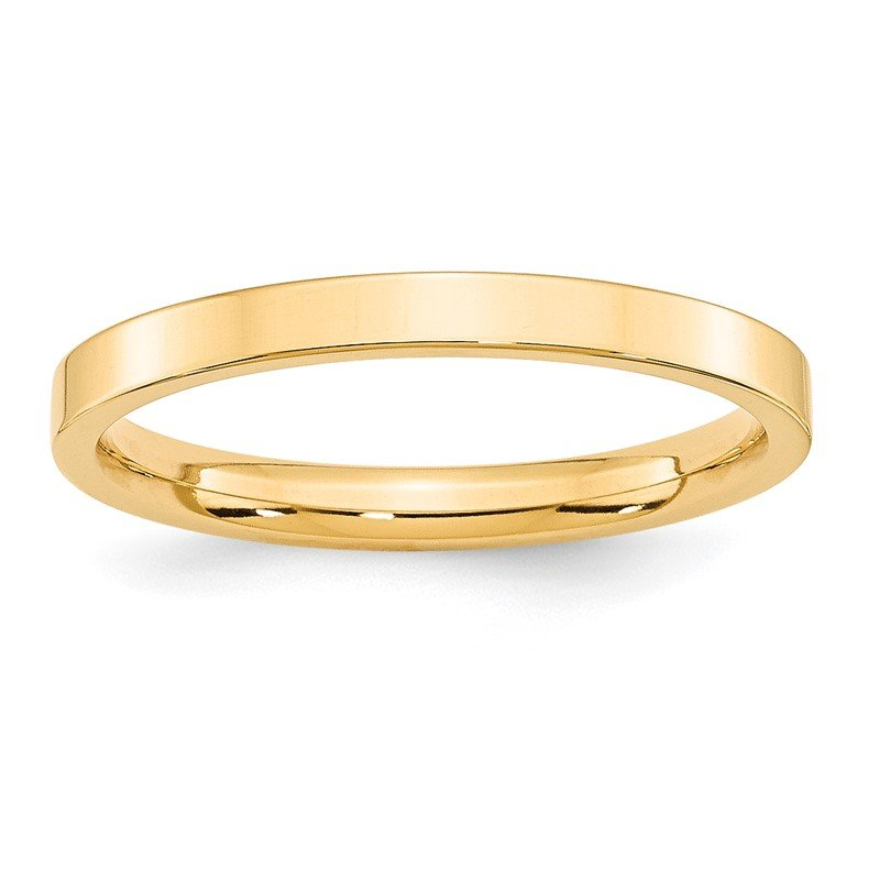 Quality Gold 14KY 2.5mm Standard Flat Comfort Fit Band Size 10