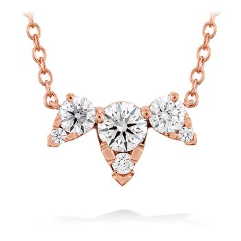 0.45 ctw. Aerial Triple Diamond Necklace