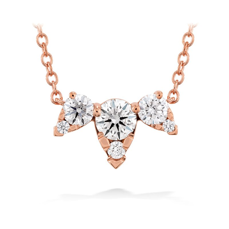 Hearts on Fire 0.45 ctw. Aerial Triple Diamond Necklace