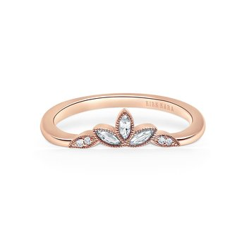 Marquise Leaf Diamond Wedding Band