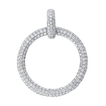 Diamond Pave Circle Pendant