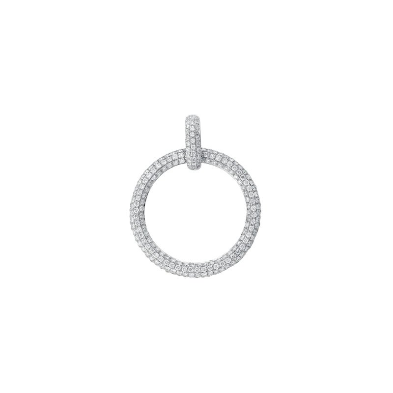 S. Kashi  & Sons Diamond Pave Circle Pendant