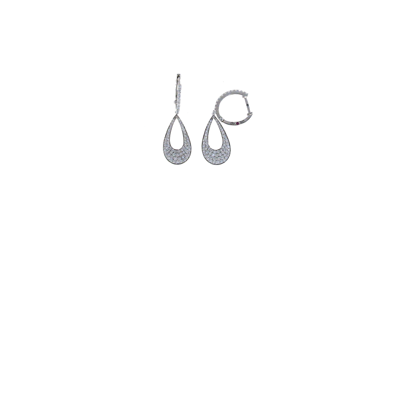 Roberto Coin 18Kt White Gold Diamond Drop Earrings