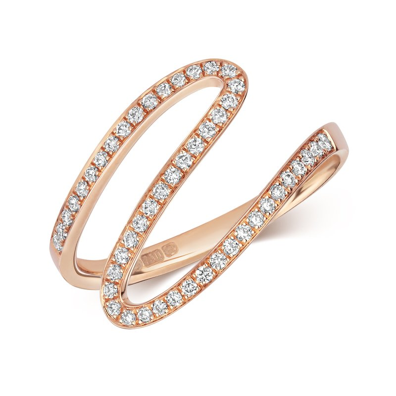 Treasure Diamond Wave Ring