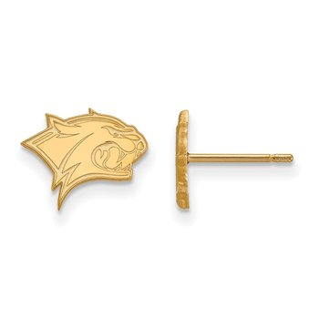 Gold University of New Hampshire NCAA Earrings