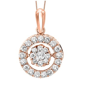 10KP Diamond Rhythm Of Love Pendant 1/2 ctw