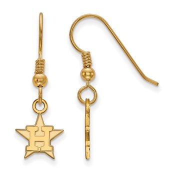Gold-Plated Sterling Silver Houston Astros MLB Earrings