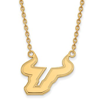 Gold University of South Florida NCAA Necklace