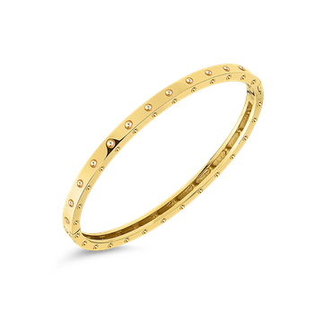 18Kt Gold Pois Moi Oval Bangle
