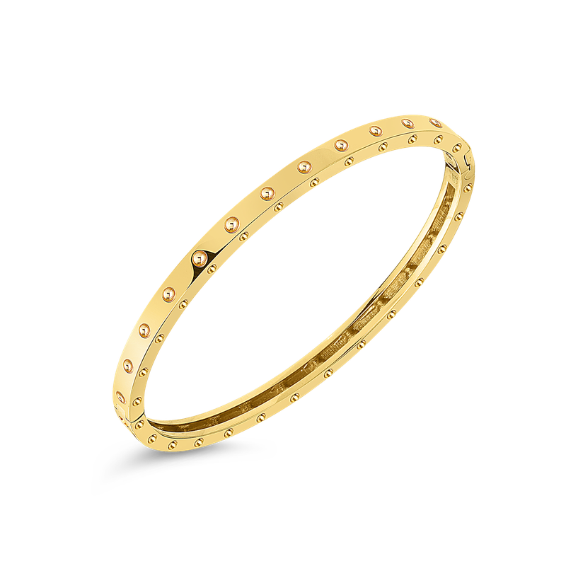 Roberto Coin 18Kt Gold Pois Moi Oval Bangle