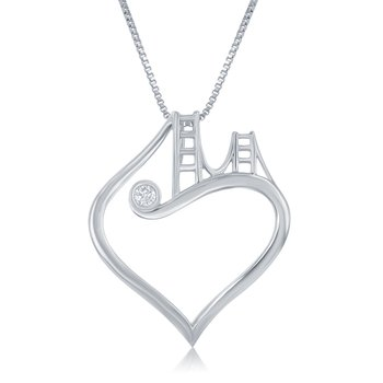 Golden Gate Bridge to Her Heart Necklace