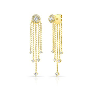 Yellow Gold Forevermark Diamond Fringe Ear Jacket