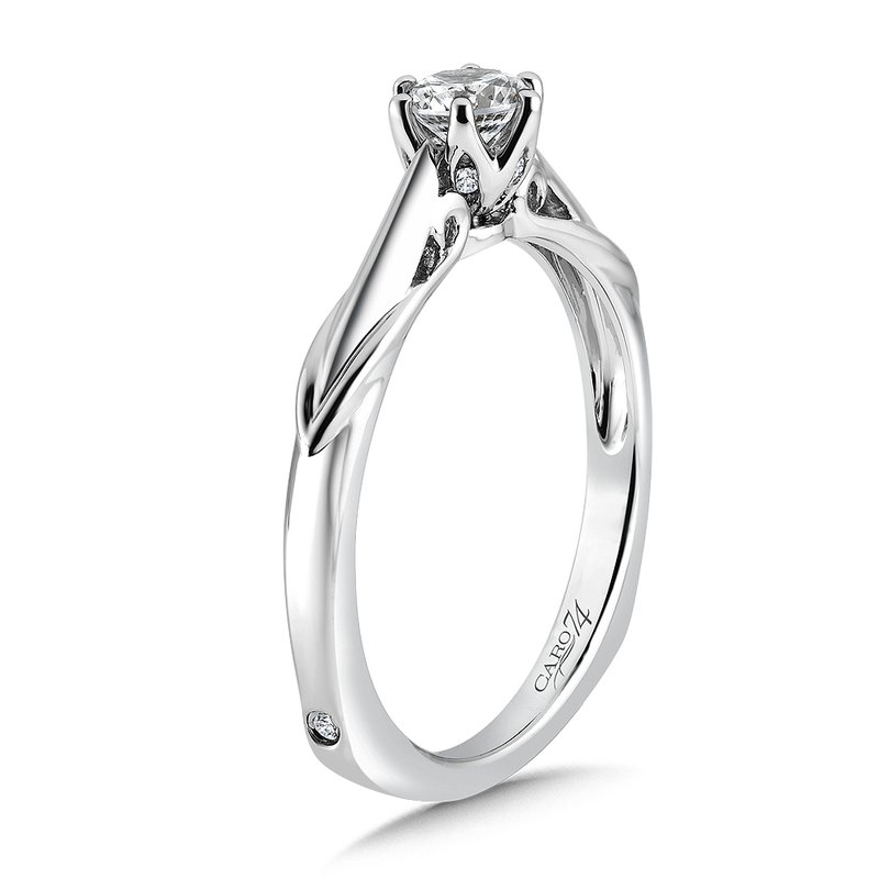 Round Six-Prong Solitaire Engagement Ring in 14K White Gold with Platinum Head (1/3ct. tw.)