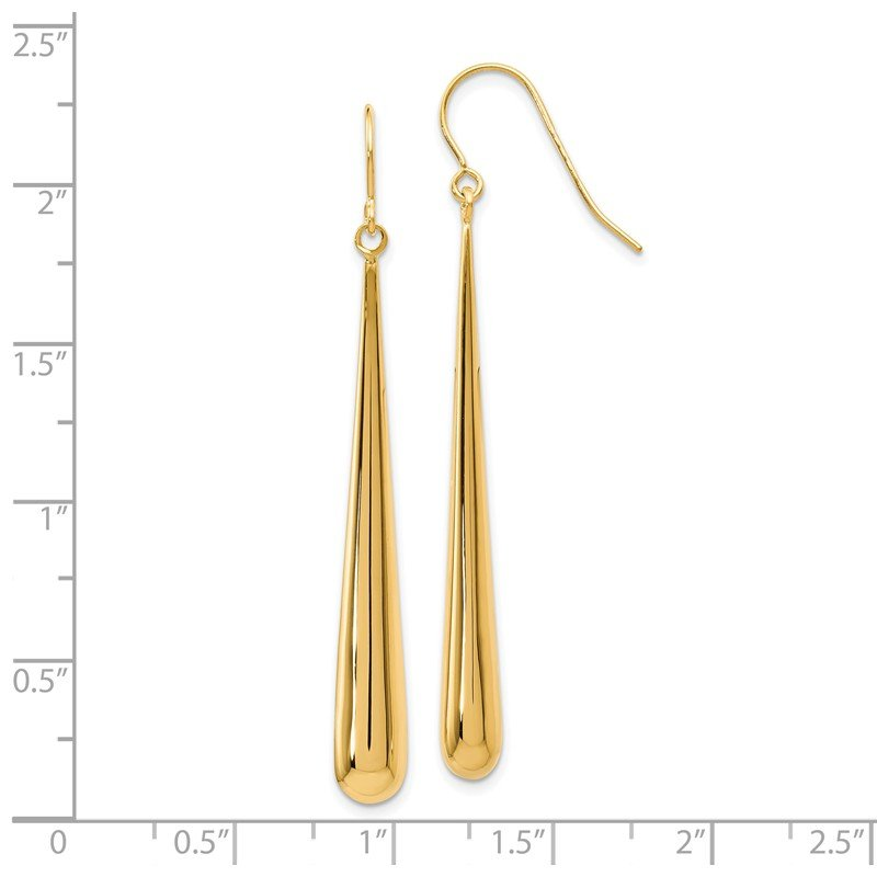 Leslie's Leslie's 14K Polished Shepherd Hook Earrings