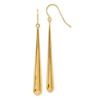 Leslie's 14K Polished Shepherd Hook Earrings